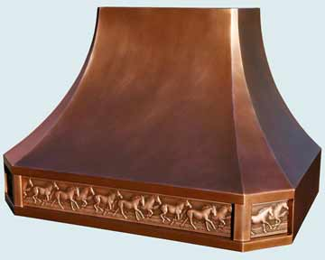 Custom Copper Range Hoods French Sweep 3849