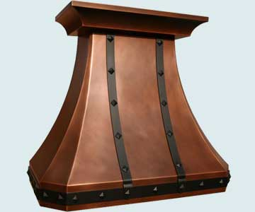 Custom Copper Range Hoods French Country 3850