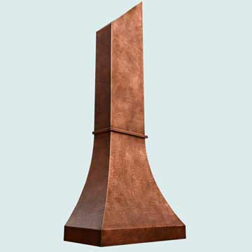 Custom Copper Range Hoods Double Sweep 3865