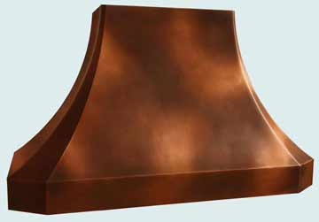 Custom Copper Range Hoods French Sweep 3875