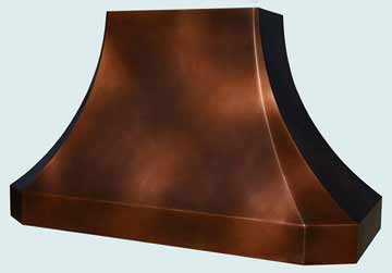 Custom Copper Range Hood #3875 | Handcrafted Metal Inc