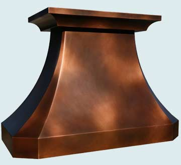 Custom Copper Range Hoods French Country 3876