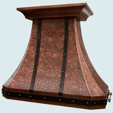 Custom Copper Range Hoods French Country 3877