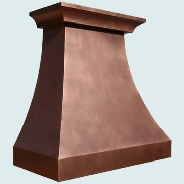 Custom Copper Range Hoods Double Sweep 3881