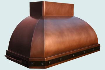 Custom Copper Range Hood #3950 | Handcrafted Metal Inc