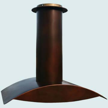 Custom Copper Range Hoods Wings 3951