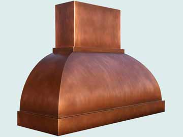 Custom Copper Range Hoods Double Roll 3953