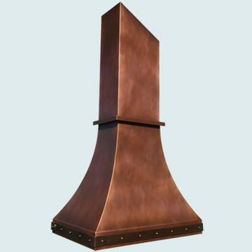 Custom Copper Range Hoods Double Sweep 3955