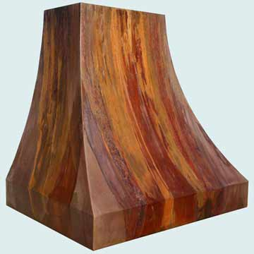 Custom Copper Range Hood #3956 | Handcrafted Metal Inc
