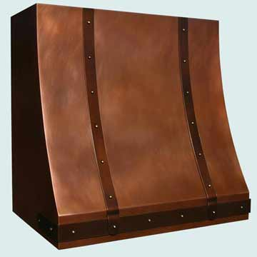 Custom Copper Range Hoods Sweep Front 3957