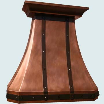 Custom Copper Range Hood #3958 | Handcrafted Metal Inc