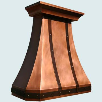 Custom Copper Range Hoods Tall French Country 3958