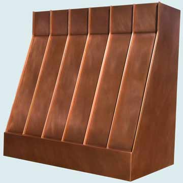 Custom Copper Range Hoods Slope Front 3959