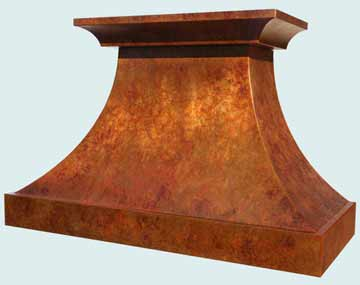 Custom Copper Range Hoods Double Sweep 3960