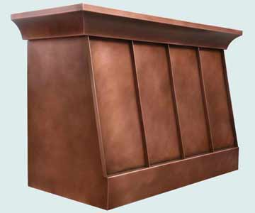 Custom Copper Range Hoods Slope Front 3962