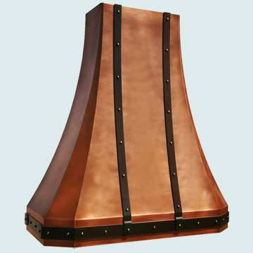 Custom Copper Range Hoods Tall French Sweep 3963