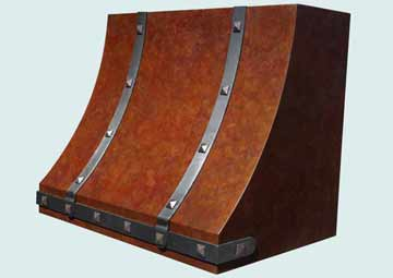 Custom Copper Range Hoods Sweep Front 4026