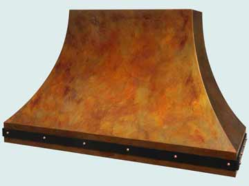 Custom Copper Range Hood #4027 | Handcrafted Metal Inc