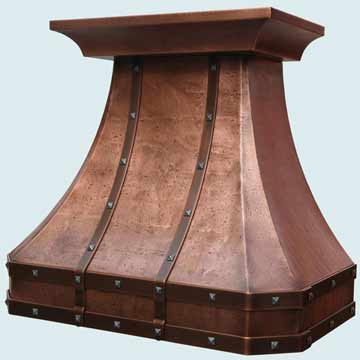 Custom Copper Range Hoods French Country 4029