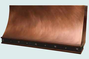 Custom Copper Range Hoods Sweep Front 4030