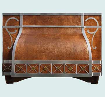 Custom Copper Range Hood #4031 | Handcrafted Metal Inc