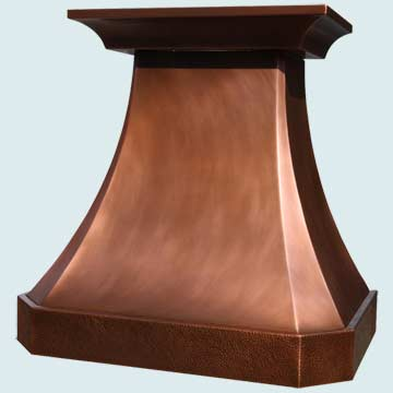 Custom Copper Range Hoods French Country 4033
