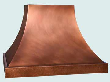 Custom Copper Range Hoods Double Sweep 4448