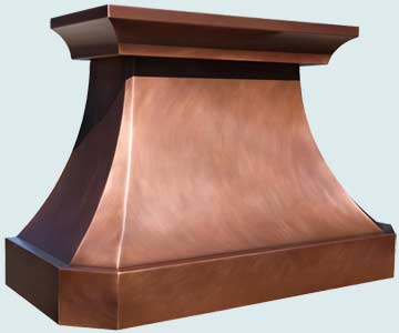 Custom Copper Range Hoods French Country 4197