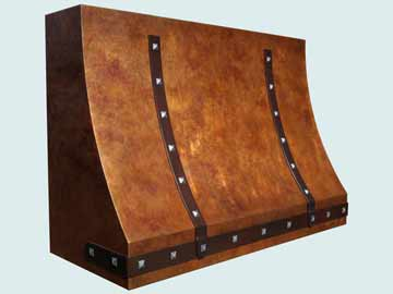 Custom Copper Range Hood #4205 | Handcrafted Metal Inc