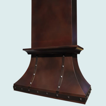 Custom Copper Range Hoods Double Sweep 4207