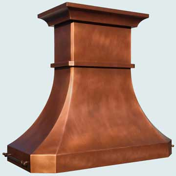 Custom Copper Range Hoods Tall French Country 4208