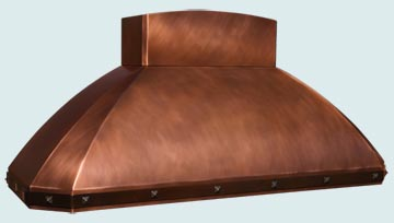 Custom Copper Range Hoods French Roll 4209
