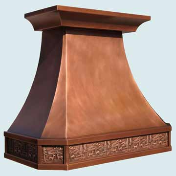 Custom Copper Range Hoods French Country 4210