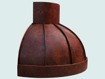 Custom Copper Range Hood #4211 | Handcrafted Metal Inc
