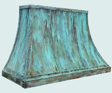 Custom Copper Range Hood #4212 | Handcrafted Metal Inc