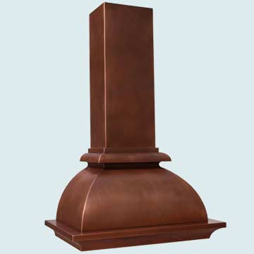 Custom Copper Range Hood #4234 | Handcrafted Metal Inc