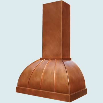Custom Copper Range Hoods Double Roll 4236