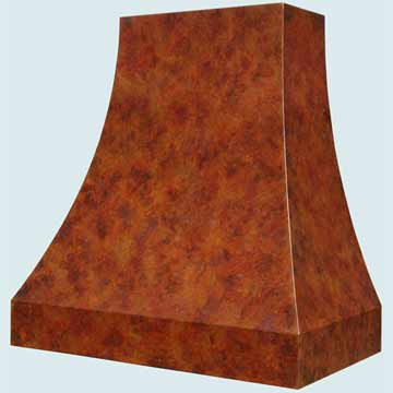 Custom Copper Range Hoods Double Sweep 4272
