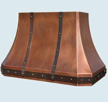 Custom Copper Range Hoods French Sweep 4273