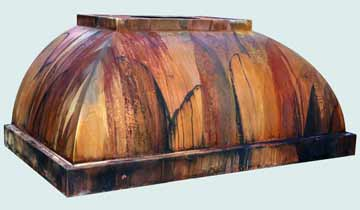 Custom Copper Range Hoods Double Roll 4279