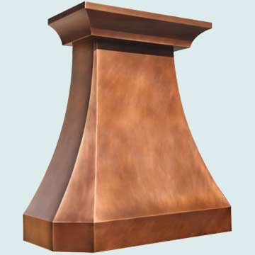 Custom Copper Range Hoods Tall French Country 4280