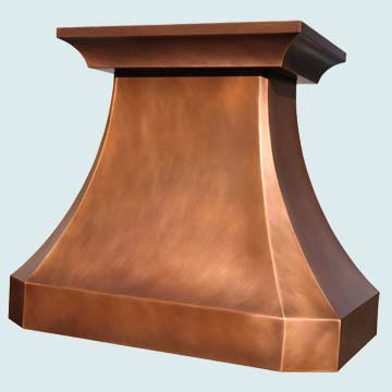 Custom Copper Range Hoods French Country 4453