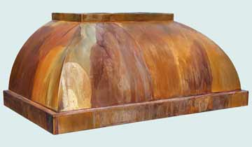 Custom Copper Range Hoods Double Roll 4299