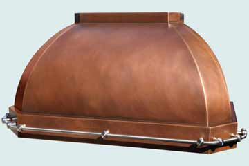 Custom Copper Range Hoods French Roll 4300