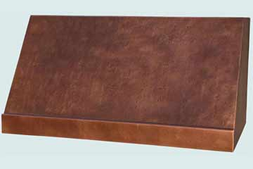 Custom Copper Range Hoods Slope Front 4307