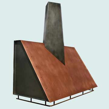 Custom Copper Range Hoods Slope Front 4316