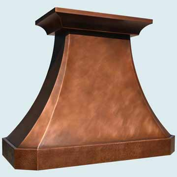 Custom Copper Range Hood #4319 | Handcrafted Metal Inc