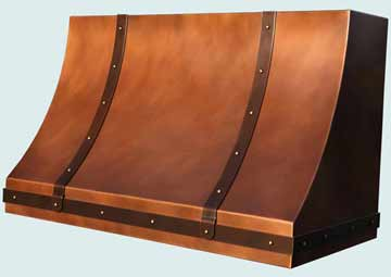 Custom Copper Range Hoods Sweep Front 4335