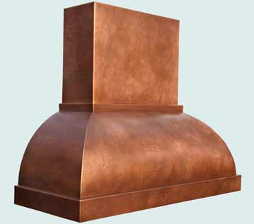 Custom Copper Range Hoods Double Roll 4344