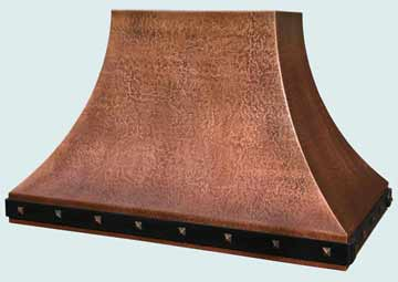 Custom Copper Range Hoods Double Sweep 4336